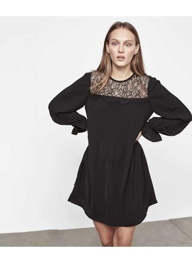 Ipekyol Mini Dantel Mix Elbise Siyah